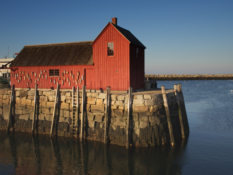 Motif Number 1, located on Bradley Wharf in the harbor town of Rockport, Mass.